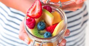 Embarazada: macedonia de frutas con ácido fólico